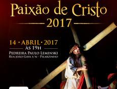 Paixão de Cristo com o Grupo Lanteri nesta sexta (14), na Pedreira